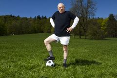 Senior football player Stock Photo