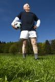 Senior football player royalty free stock photos
