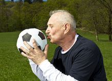 Senior football player Royalty Free Stock Photography