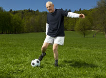 Senior football player Stock Image