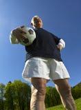 Senior Football Player Stock Image