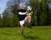 Senior football player Royalty Free Stock Image