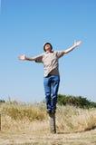 Senior Freedom. Retired man enjoying his freedom outdoors Royalty Free Stock Photography