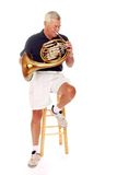Senior French Horn Player Stock Photos