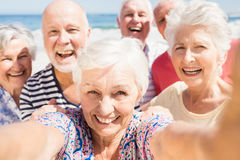 Senior friends taking selfie Royalty Free Stock Photography
