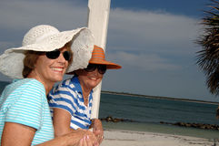 Senior friends tropic vacation Royalty Free Stock Photo