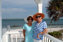 Senior friends tropical trip Stock Images