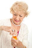 Senior Frustrated with Prescription Cap Royalty Free Stock Photography
