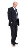 Senior full length businessman stock image