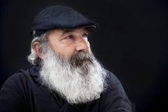 Senior with full white beard Stock Image