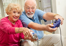 Senior Gamers Stock Photos