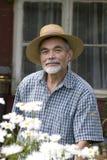 Senior in the garden Stock Photography