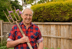 Senior Gardener Stock Image