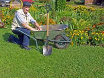 Senior gardener Royalty Free Stock Image