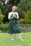 Senior gardener Stock Photos
