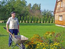 Senior gardener 4 Royalty Free Stock Images
