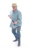 Senior gardener with forks Royalty Free Stock Image