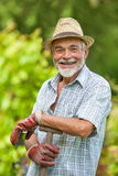 Senior gardener with a spade Stock Photo