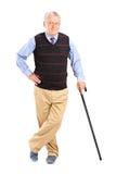 Senior gentleman with cane Stock Photo