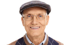Senior gentleman with a gray beret Stock Photography