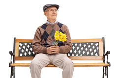 Senior gentleman waiting for his date Stock Images