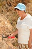 Senior Geologist Woman Royalty Free Stock Photos