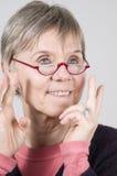 Senior with glasses Stock Photo