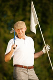 Senior Golf player Stock Photo
