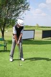 Senior golf player Stock Image