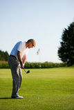Senior golf player in summer Stock Photos