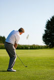 Senior golf player in summer Stock Images