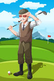 Senior golfer. A vector illustration of a senior golfer vector illustration