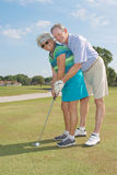 Senior Golfers Royalty Free Stock Images