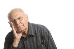 Senior good looking man. Portrait of a senior man over white background Stock Photo