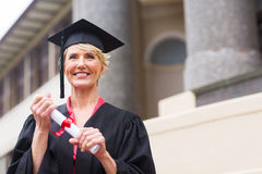 Senior graduate certificate Royalty Free Stock Photography