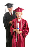 Senior Graduate and Professor Isolated Royalty Free Stock Photos