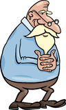Senior grandfather cartoon illustration Stock Photo