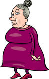 Senior grandmother cartoon illustration Royalty Free Stock Images