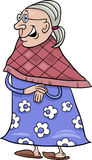 Senior grandmother cartoon illustration Royalty Free Stock Photo
