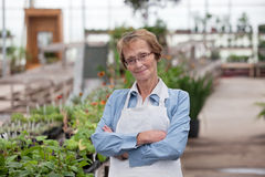 Senior Greenhouse Owner Royalty Free Stock Image