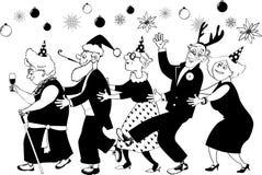 Senior group Christmas party Stock Photos
