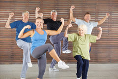 Senior group doing bokwa class Royalty Free Stock Photography