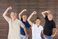 Senior group doing fitness Royalty Free Stock Photo