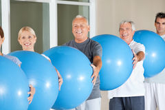 Senior group doing fitness Stock Photography