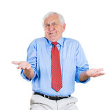 Senior guy, so what, who cares? Stock Images