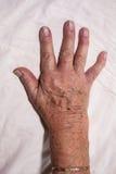 Senior hand Royalty Free Stock Image