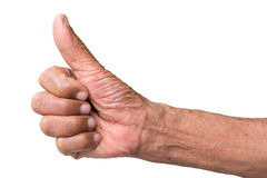 Senior hand like concept Royalty Free Stock Photography