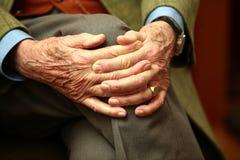 Senior hands Stock Images