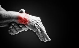 Free Senior Hands. Suffering From Pain And Rheumatism Royalty Free Stock Image - 38187286