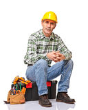 Senior handyman Stock Image